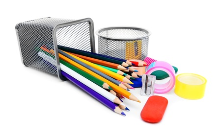 School accessories. On white background. Stock Photo - 15266406
