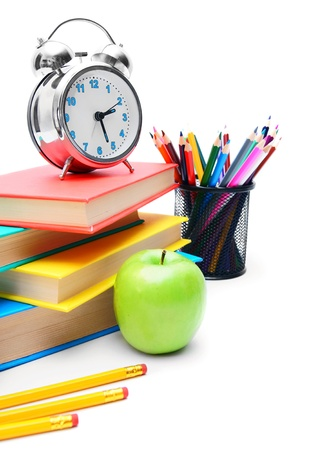 Back to school . School tools . On white background. Stock Photo - 15266430