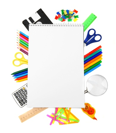 Back to school  The Stationery and notebook  photo