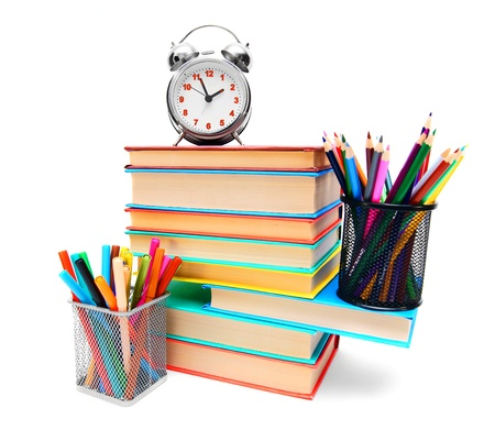 Back to school  School tools  On white background Stock Photo - 15266683