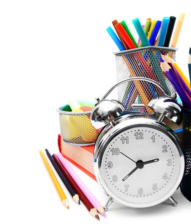 School accessories, books and a alarm clock  photo