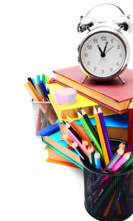 Back to school  School tools  On white background Stock Photo - 15266686
