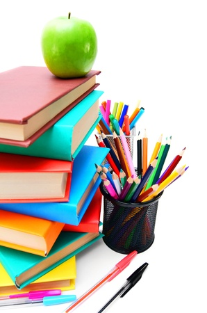 Back to school  School tools  On white background Stock Photo - 15266690