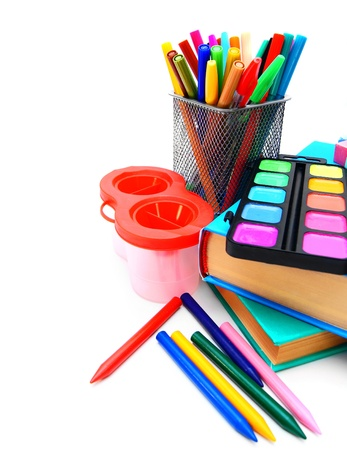 Back to school  School tools  On white background Stock Photo - 15266658