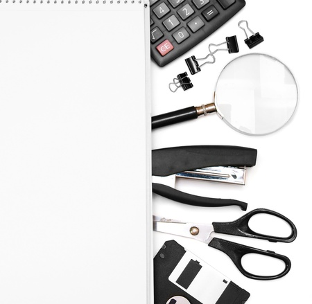 Office accessories and notebook   photo