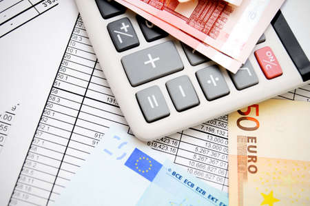 The calculator and money  On documents Stock Photo - 17237007