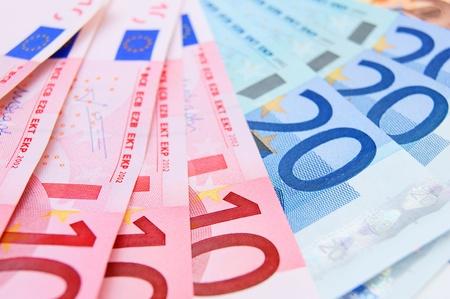 credit union: Many Money . A Euro . Stock Photo
