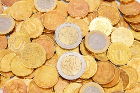 Background from gold coins. Many gold coins Stock Photo - 17237111
