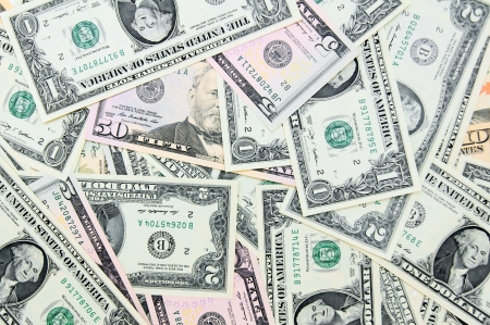 Background. It is a lot of money (dollars). Stock Photo - 17237119