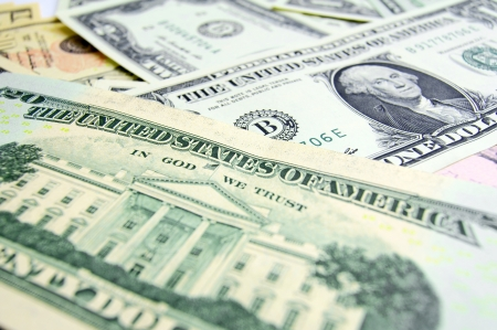 Background. It is a lot of money (dollars). photo
