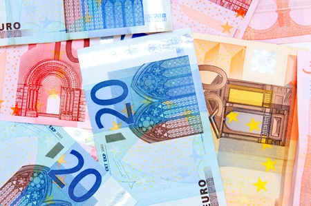 Background. It is a lot of money (euro). photo