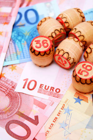Lottos for euro banknotes Stock Photo - 17237056