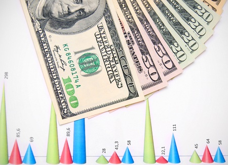 Banknotes on graphs Stock Photo - 17237071