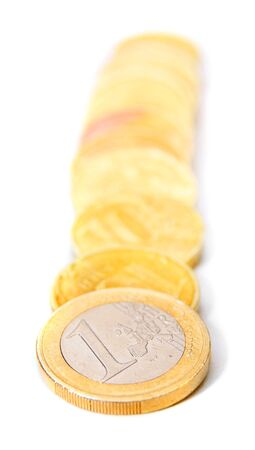Gold coins. On a white background. Stock Photo - 17233127