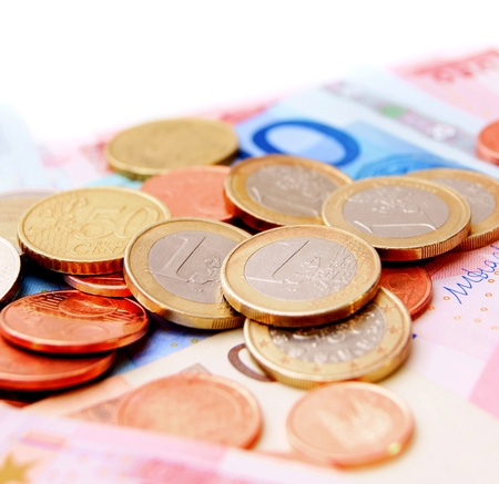 Coins on denominations  photo