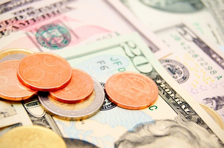 Coins and banknotes  photo