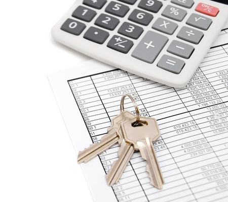 Calculator and keys on the documents Stock Photo - 17217503