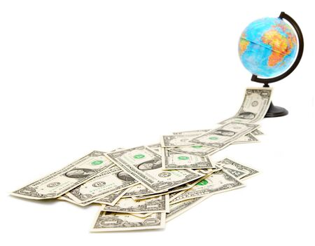 Dollars and globe  Travel  photo