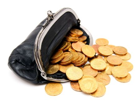 Coins in a purse Stock Photo - 17217544