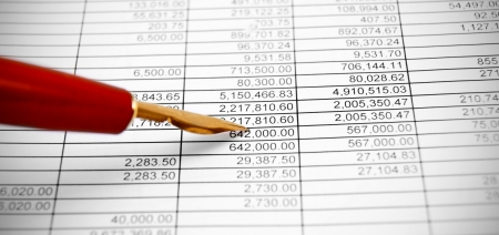 Pen on documents Stock Photo - 17217510