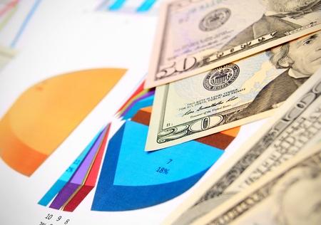 Dollars on graphs  photo
