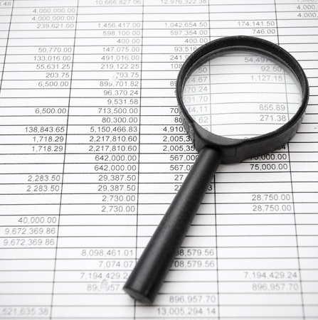 Magnifier on documents Stock Photo - 17220553