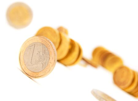 Euros of a coin  On a white background  Stock Photo - 17220407