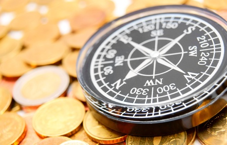Compass on coins  photo