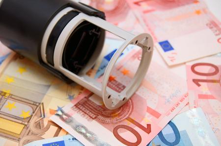 european economic community: Stamp for euro banknotes.