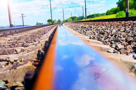 reflexion: Reflexi�n en tren. . Foto de archivo