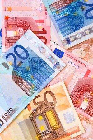 Das viele Geld. Euro Standard-Bild - 22246541