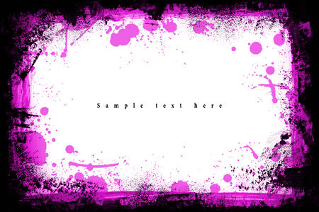 Grunge frame. Grunge background from paint. On white.