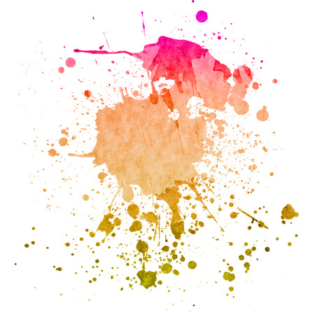 Watercolor splashes on the white. Watercolor background.
