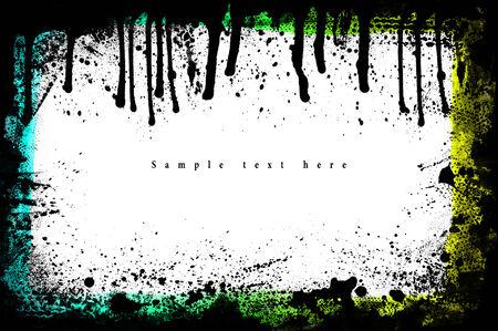 Grunge frame. Grunge background from paint. On white. photo