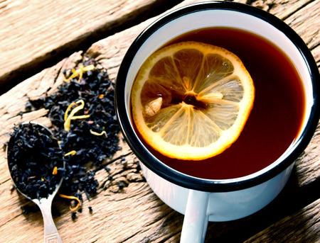 sparce: Black tea with a lemon.
