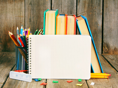 fine tip: Notebook, books and school tools.