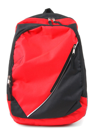 School backpack. On white background. photo