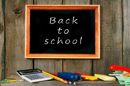 Back to school. School accessories . photo
