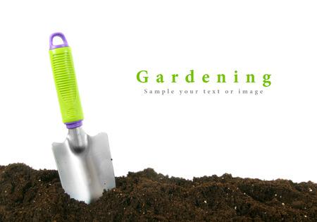 원예. 지구에 정원 도구입니다.