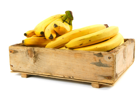 Bananas in an old box photo