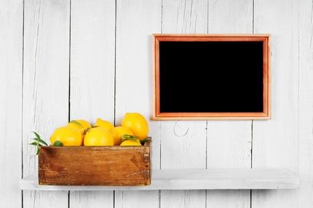 Lemons in a box photo