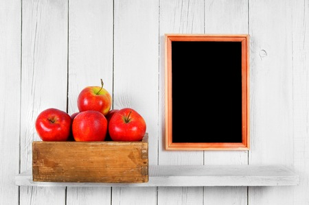 Apples in a box photo