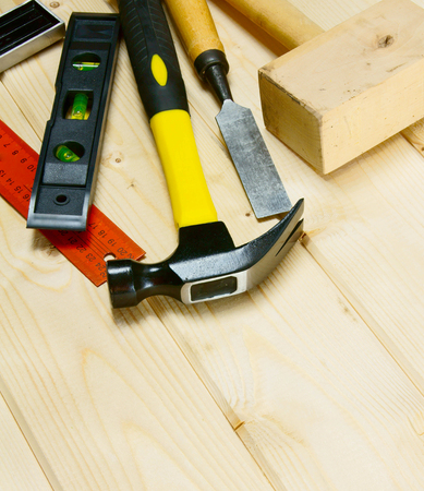 chisel: hammer, chisel, corner and other tools Stock Photo
