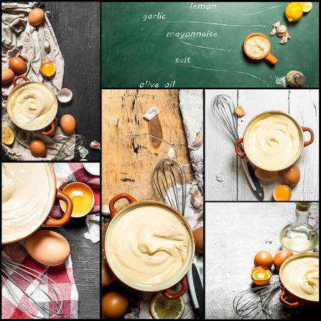 mayonesa: Food collage of mayonnaise.