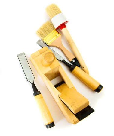 Joiners works. Working tools on a white background.