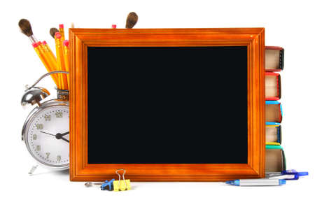 Framework and school tools. On a white background.