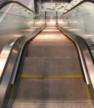 An escalator in the mall. photo