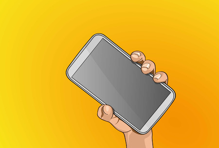 Handle mobile phone Illustration
