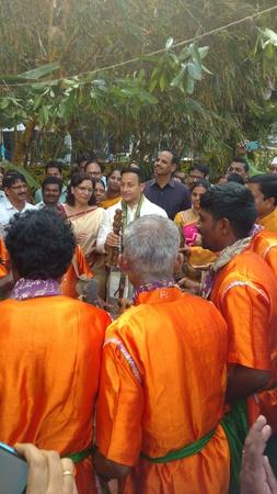 Visakhapatnam, Andhra Pradesh, India, 12th JANUARY, 2019: Part of sankranthi sambaralu conducted by A.P. Government, rangoli, traditional food,bhogi fire,visakhapatnam collector Praveen Kumar participated in the event Editöryel