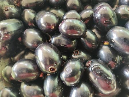 jamun fruit also called as java plum, jambolan plum, jambhul, syzygium cumini 版權商用圖片